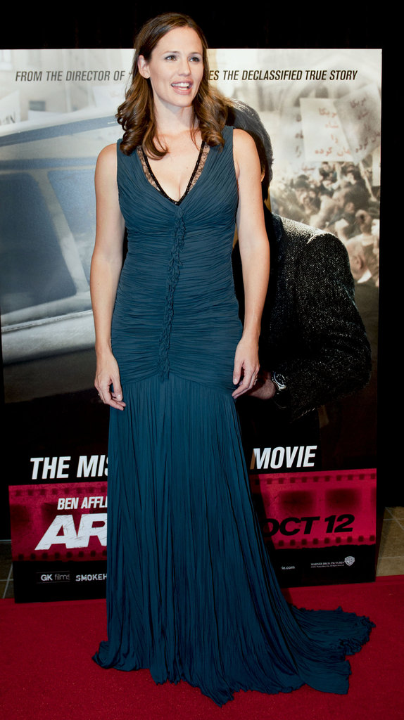 Jennifer Garner wore a Roberto Cavalli gown for the Argo premiere in Washington DC.