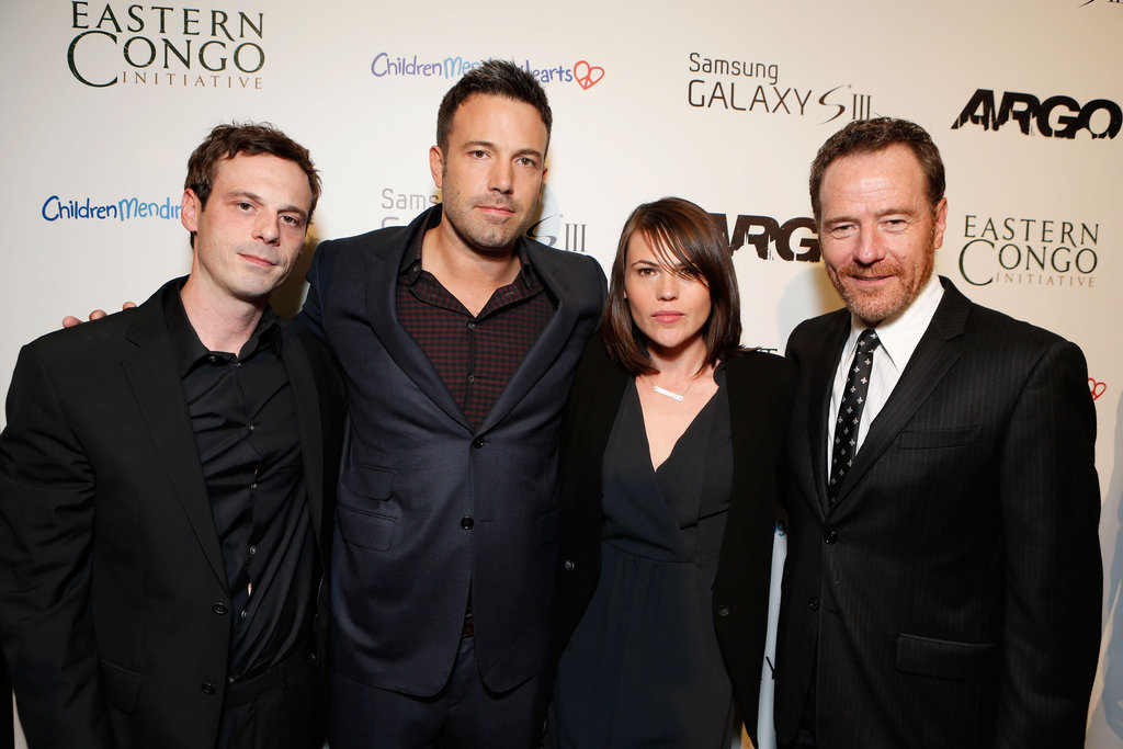 Ben Affleck cozied up with cast members Scoot McNairy, Clea Duvall, and Bryan Cranston.