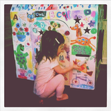 Harper Smith's cool playhouse even has its own mail slot for pretend play.  Source: Instagram user tathiessen
