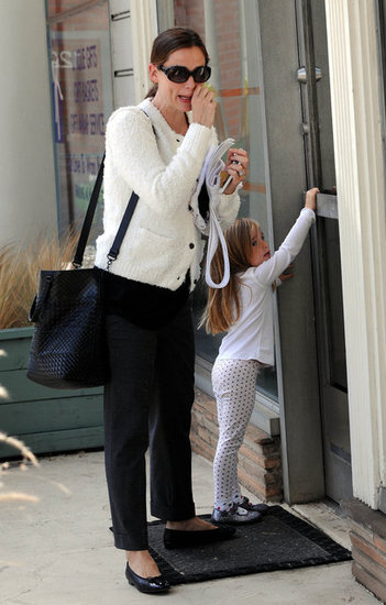 Jennifer Garner and Seraphina Affleck headed to a kids' karate studio.