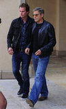 George Clooney went out to lunch with his friend Rande Gerber in LA.