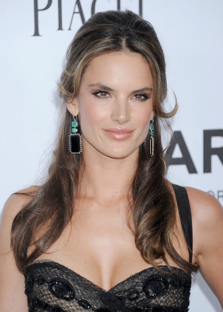 Alessandra Ambrosio chose drop earrings for the event at Milk Studios in LA.