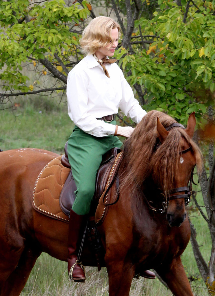 Nicole Kidman rode a horse on set in Monaco.