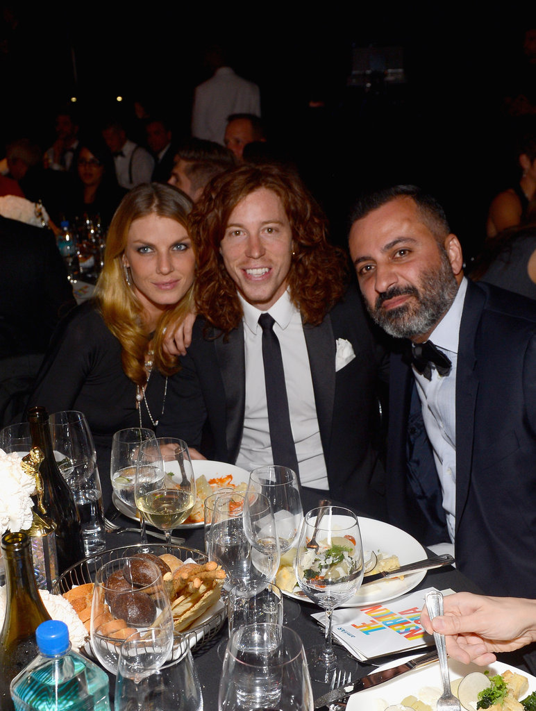 Shaun White attended the amfAR Gala in LA.