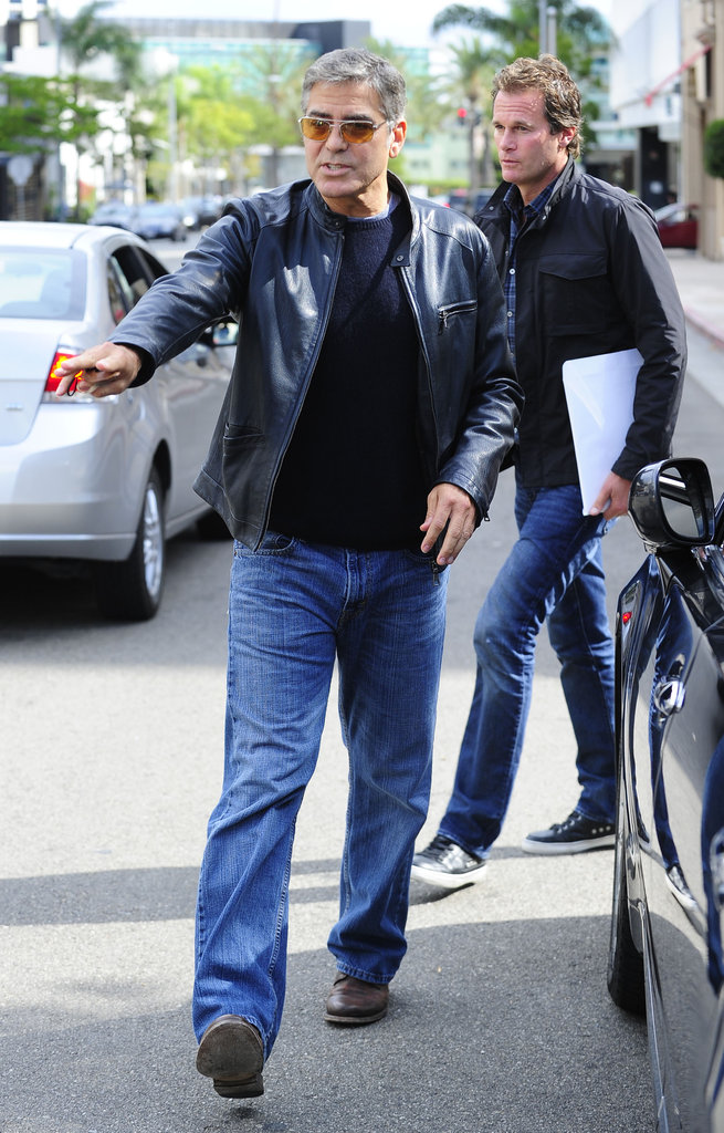 George Clooney and Randy Gerber went out to lunch in LA.