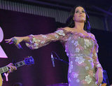 Katy Perry performed on stage at the amfAR Inspiration Gala in LA.