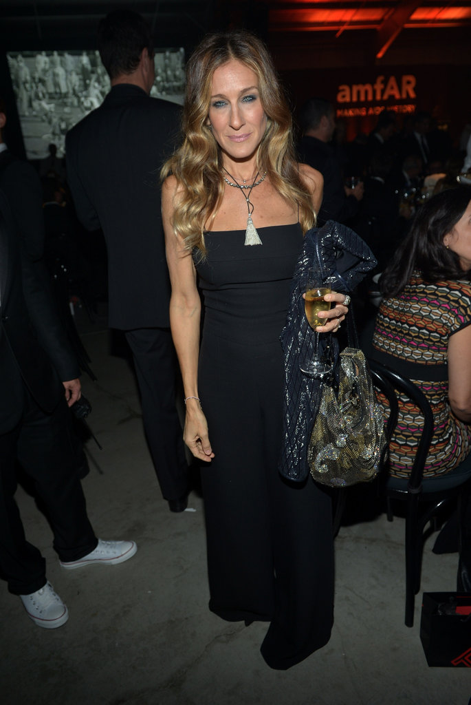 Sarah Jessica Parker posed at the amfAR Gala in LA.