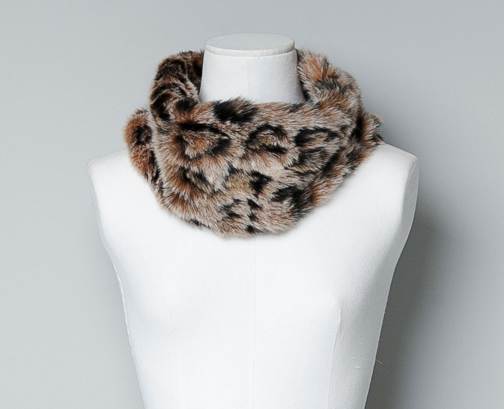 This is a double dose of exotic intrigue, and we have Zara's cheetah-printed faux fur snood ($30) to thank for it.