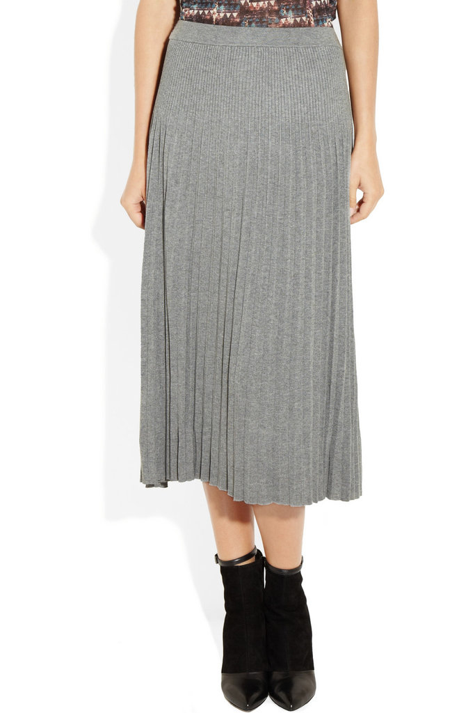 Because of its soft knit fabrication, you could easily swap out your sweats for this Michael Michael Kors Pleated Ribbed-Knit Skirt ($250) for the same comfy feel with an infinitely chicer look.