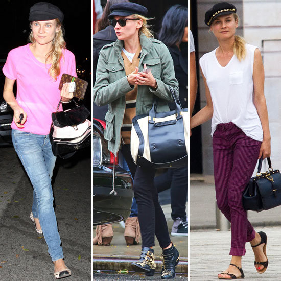 Diane Kruger loves her newsboy caps, and we do too. Shop our editors' picks to get her look.