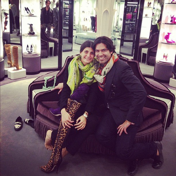 Fashion editor Givanna Battaglia bumped into shoe designer Brian Atwood while walking along Madison Avenue. Only in New York! Source: Instagram user giovannabattaglia1979