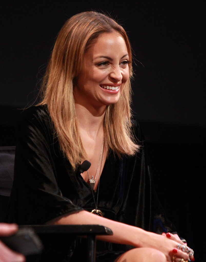 Nicole Richie laughed on stage.