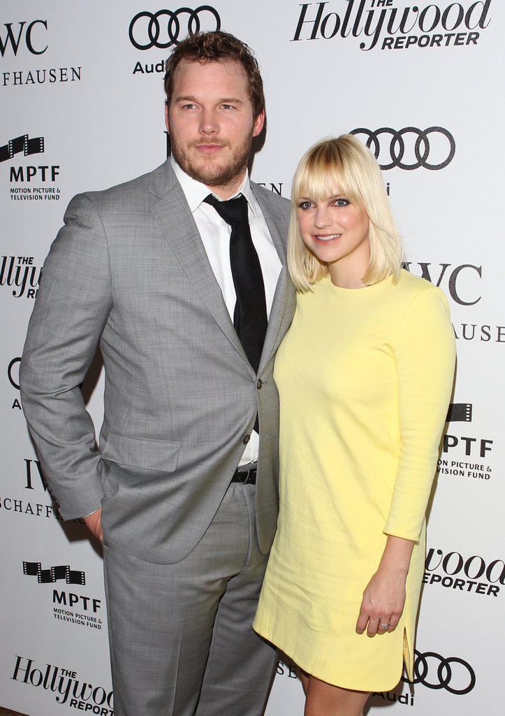 Anna Faris and Chris Pratt posed together at the Reel Stories, Real Lives benefit in LA.