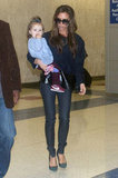 Harper Beckham wore Nikes in NYC.