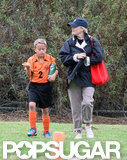 Reese Witherspoon attended Deacon's soccer game in LA.