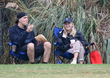 Reese Witherspoon and Jim Toth laughed together on the sidelines of Deacon's soccer game.
