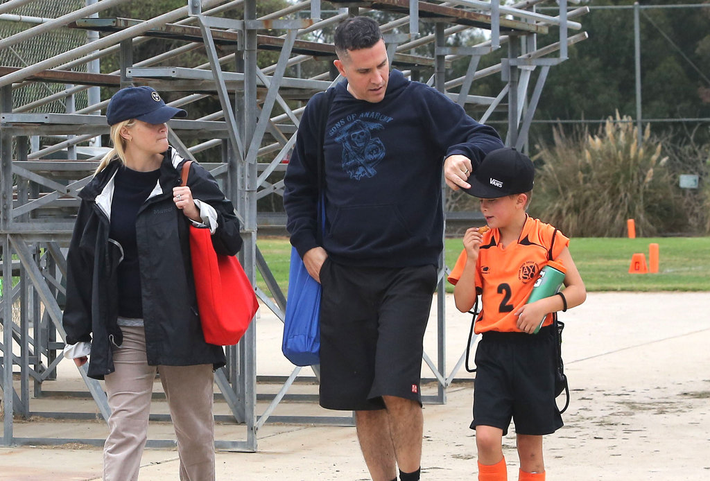 Reese Witherspoon and Jim Toth accompanied Deacon Phillippe to his soccer game in LA.