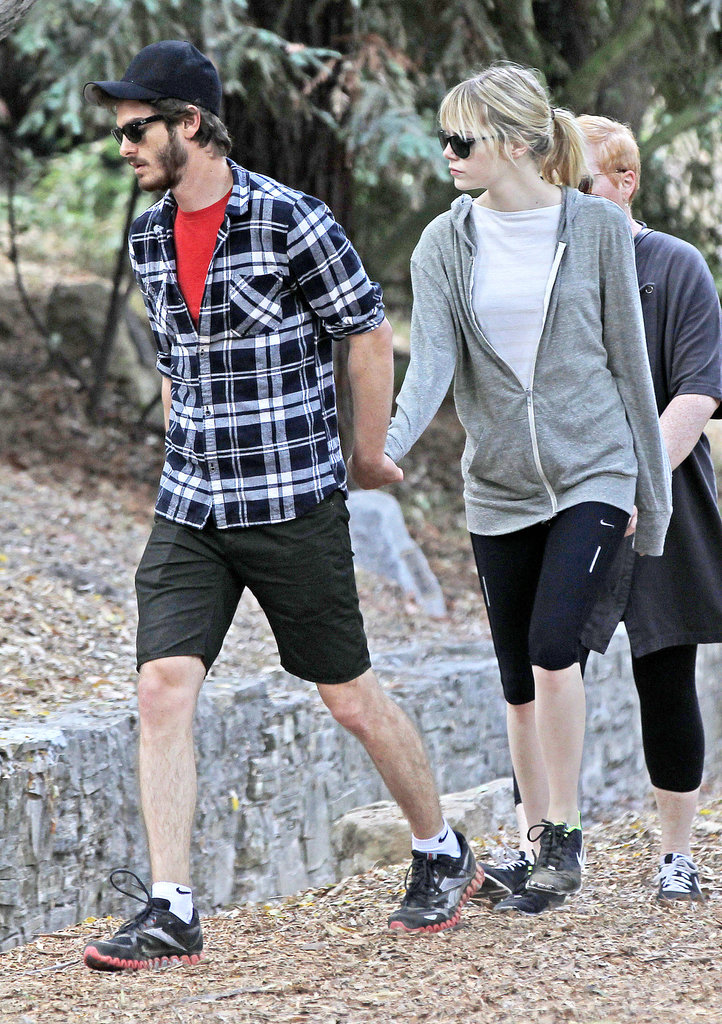 Andrew Garfield and Emma Stone held hands.