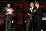 Ben Stiller appeared onstage in NYC with Tommy Hilfiger and Jon Stewart to support autism research.