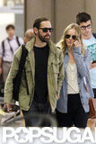 Kate Bosworth and Michael Polish held hands in the New Orleans airport.