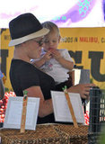 Pink showed Willow Hart around the farmers market in Malibu.