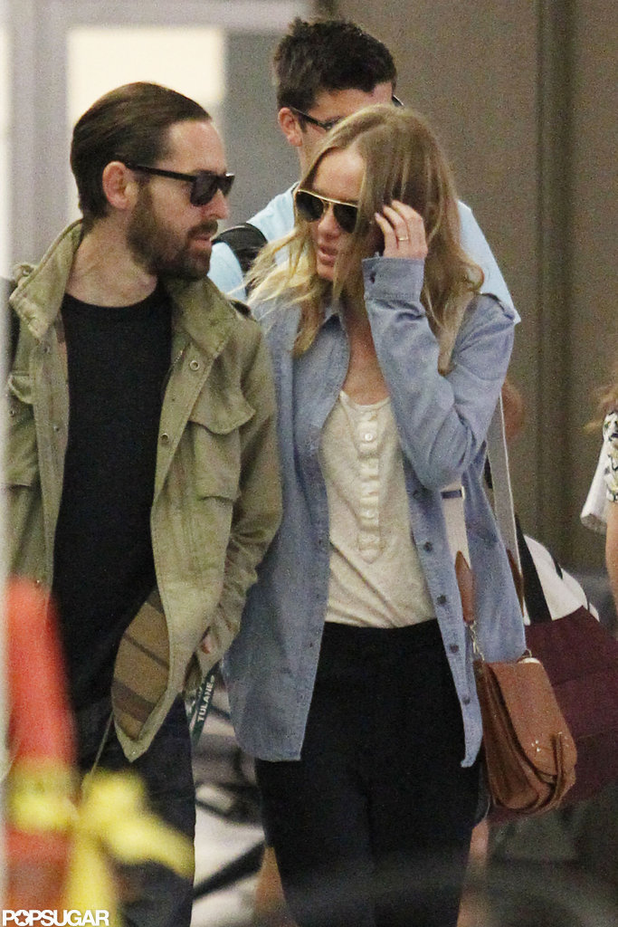 Kate Bosworth and Michael Polish gave each other a sweet glance.