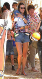 Alessandra Ambrosio visited a pumpkin patch in West Hollywood.