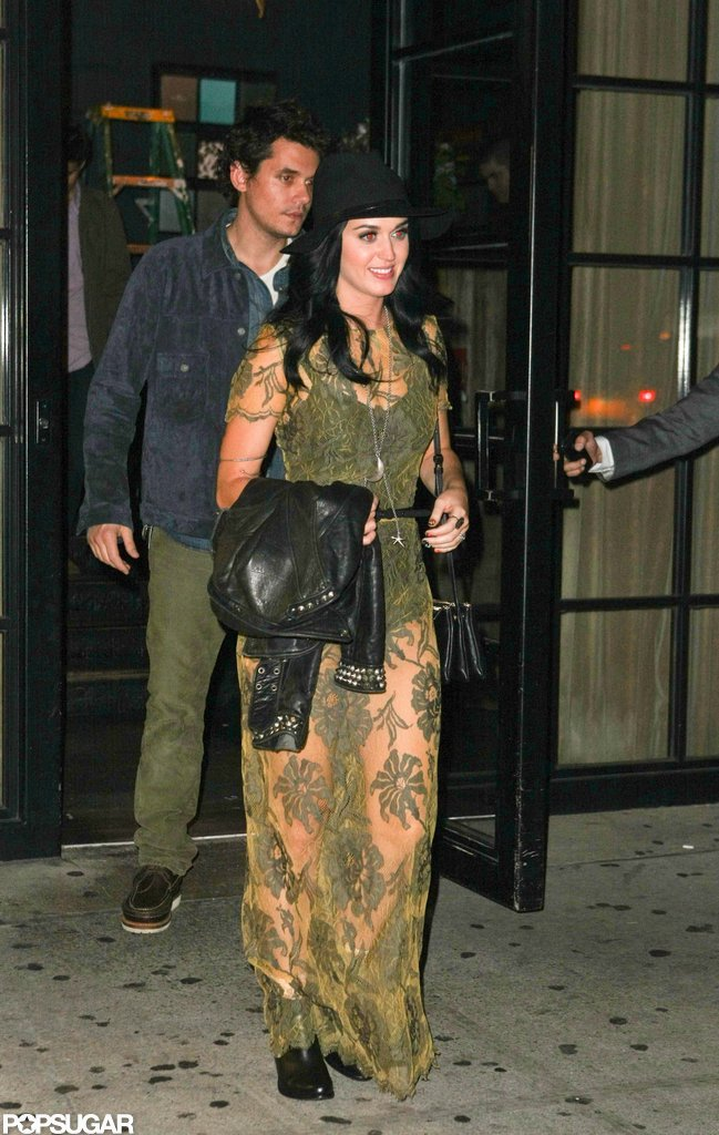 Katy Perry and John Mayer had a date night at the Pearl restaurant in NYC.