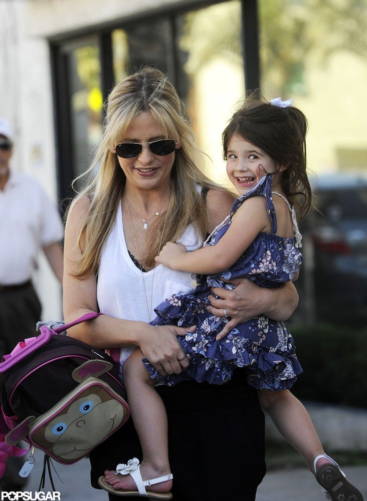 Charlotte Prinze was all smiles as she got a lift from her mom, Sarah Michelle Gellar.