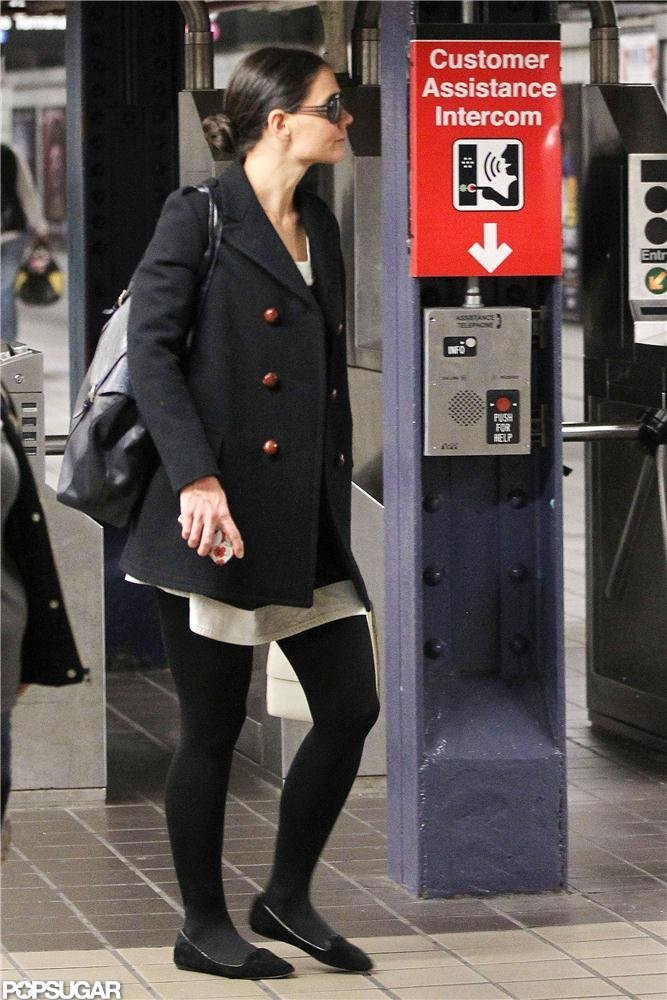 Katie Holmes stepped out on the subway in NYC
