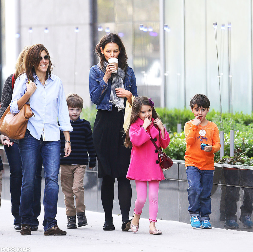 Katie Holmes and daughter Suri Cruise stepped out in NYC.