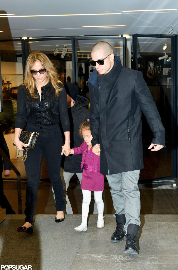 Jennifer Lopez spent the day shopping with Casper Smart and Emme Anthony.