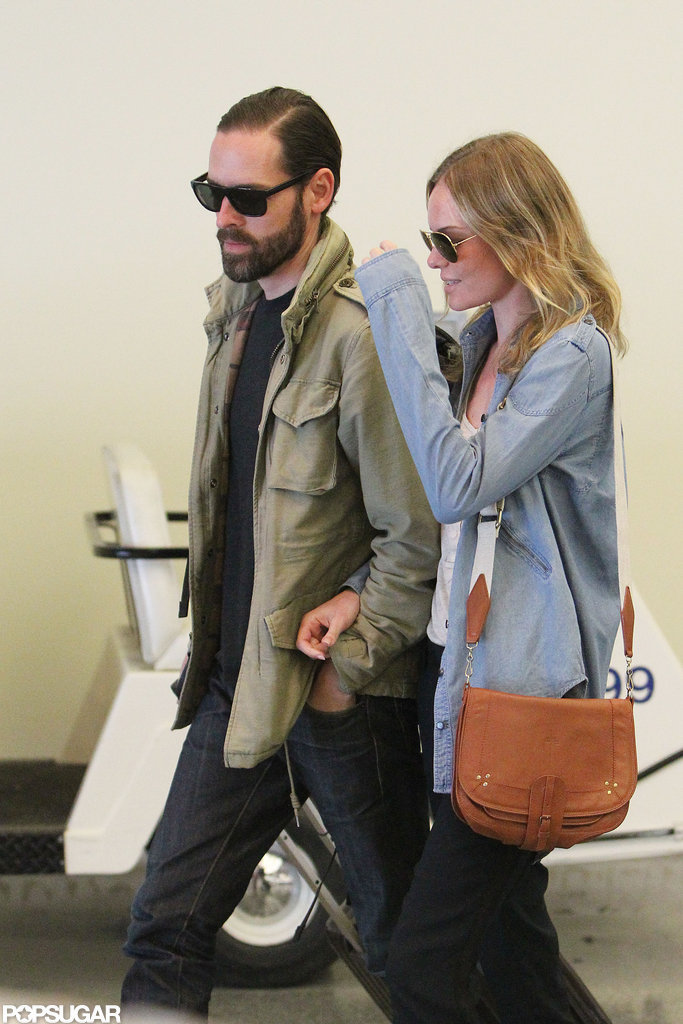 Kate Bosworth and Michael Polish held hands.