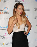 Lauren Conrad wore a strapless silhouette at the Susan G. Komen foundation's Designs For the Cure gala in LA.