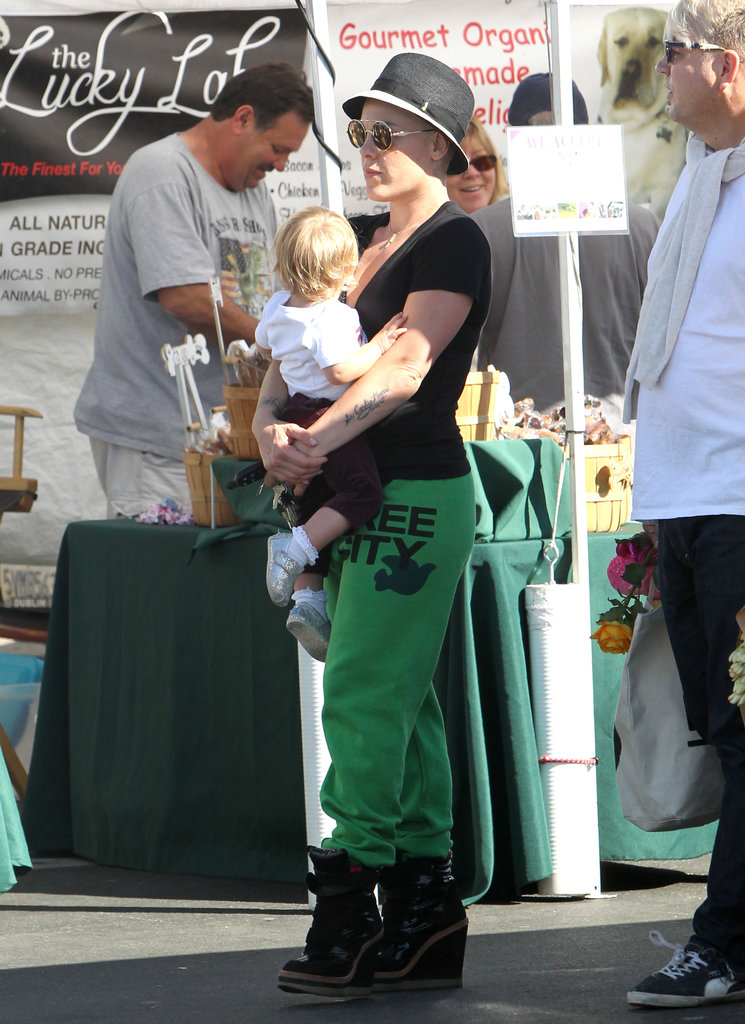 Pink and Willow Hart spent the day in Malibu.