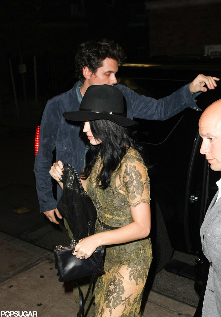 Katy Perry got out of the car with John Mayer in NYC.