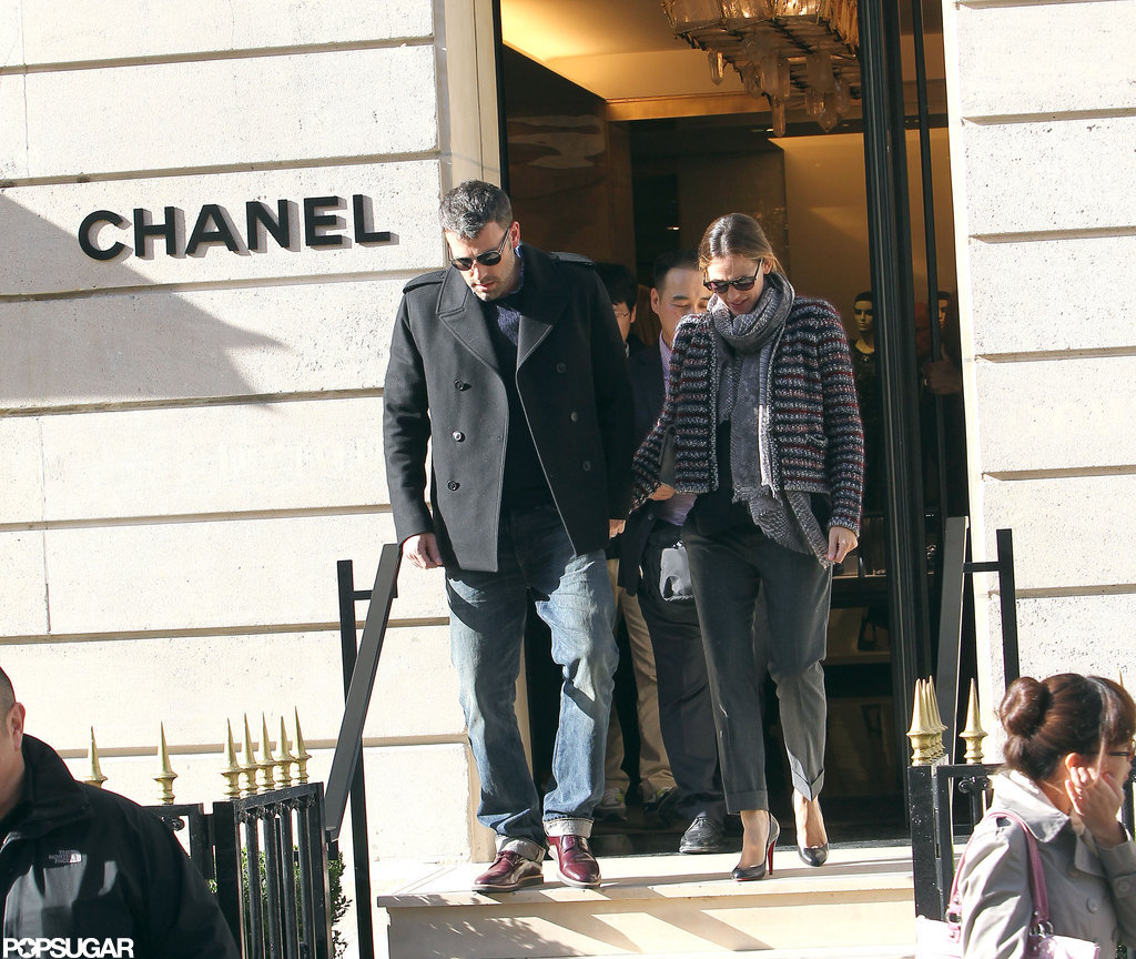 Ben Affleck and Jennifer Garner stopped by Chanel in Paris.