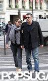 Ben Affleck and Jennifer Garner crossed a street arm in arm in Paris.