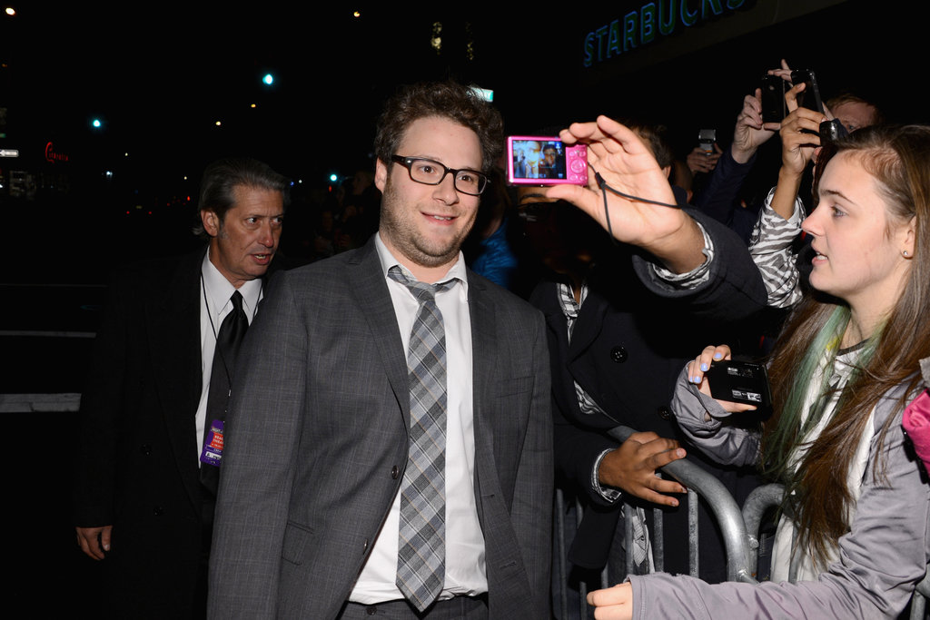 Seth Rogen stepped out in NYC for the Night of To Many Stars benefit.