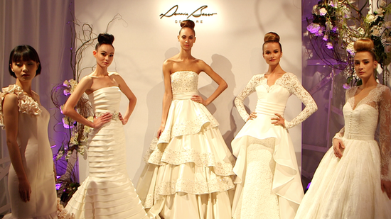 Glamour, Hand-Beading, and Plenty of Top Knots at Dennis Basso Bridal