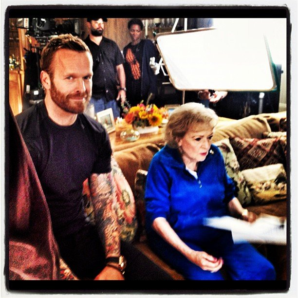 Bob Harper trained on the set with Betty White. Source: Instagram user trainerbob