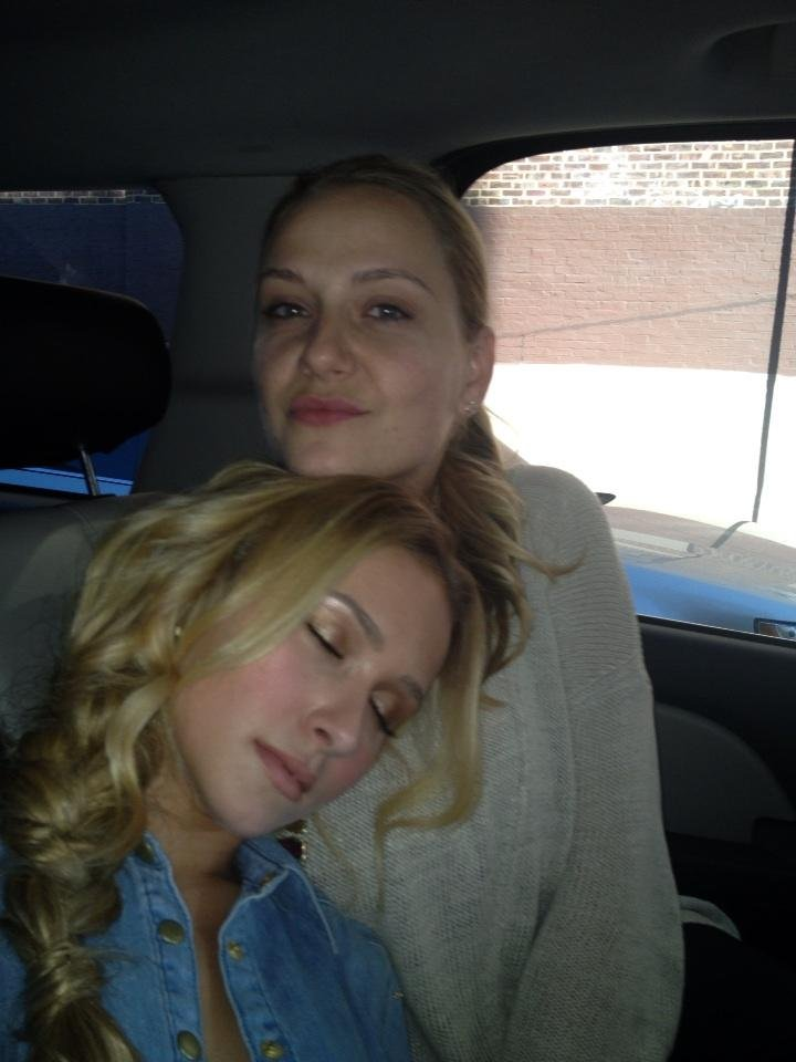 Hayden Panettiere fell asleep in the car after a long day of press. Source: Twitter user haydenpanettier