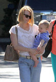 January Jones and Xander Jones spent the day together in Pasadena.