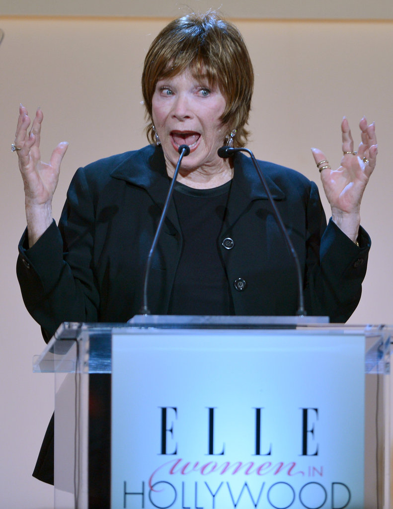 Shirley Maclaine appeared on stage at the Elle Women in Hollywood Awards in LA.