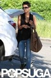 Halle Berry grocery shopped in LA.