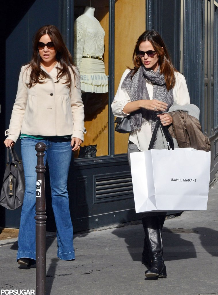 Jennifer Garner went shopping at Isabel Marant in Paris.