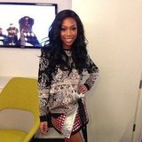 "Brandy was in ""work mode"" during a trip to NYC. Source: Instagram user 4everbrandy"