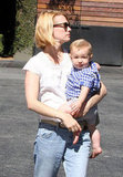 January Jones carried Xander Jones after they grabbed lunch.