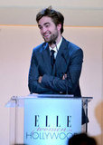 Robert Pattinson was onstage at the Elle Women in Hollywood Awards.