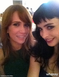 """Krysten Ritter called Kristin Wiig """"the female equivalent of Ryan Gosling"""" after posing with her. Source: Krysten Ritter on WhoSay"""